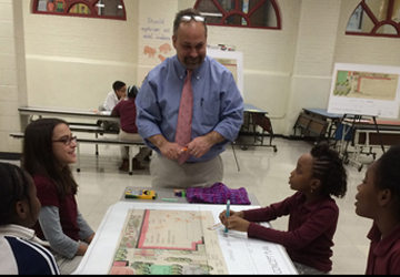 Classical Studies Magnet Academy, Bridgeport, CT-Aris Stalis teaching students